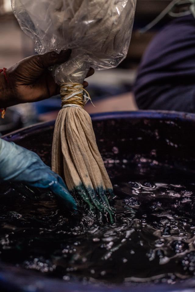 Processus de teinture naturelle - indigo