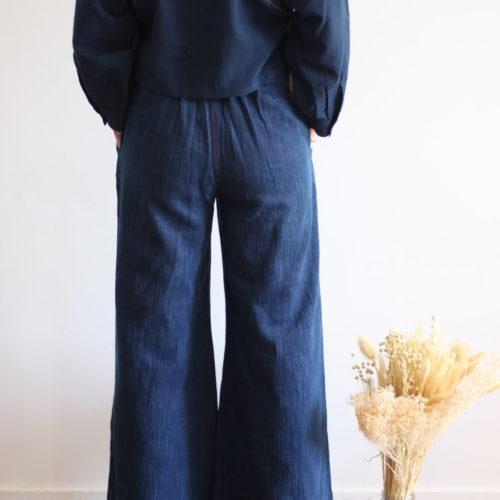 Précommande / Pantalon flare JANE – denim indigo