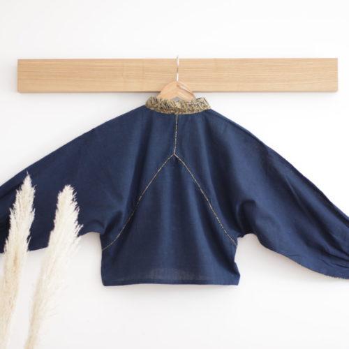 Chemise HINDI – bleu indigo imprimé