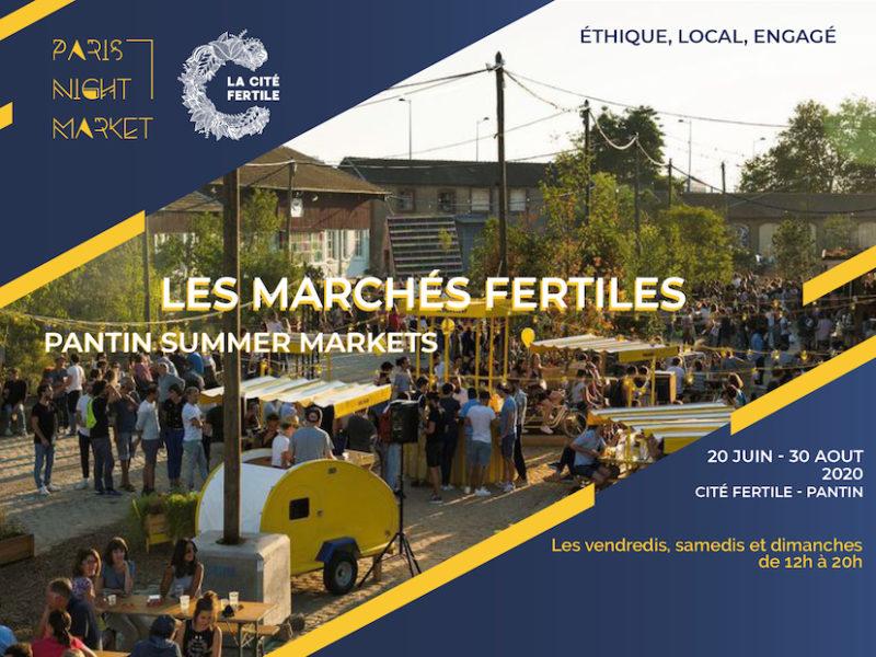 SAVE THE DATE ! Rdv au Marché Fertile à la Cité fertile à Pantin du 28 au 30 août