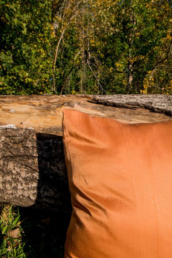 Housse de coussin terracotta
