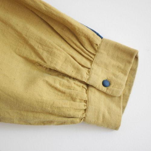 Chemise HINDI – bleu indigo et jaune