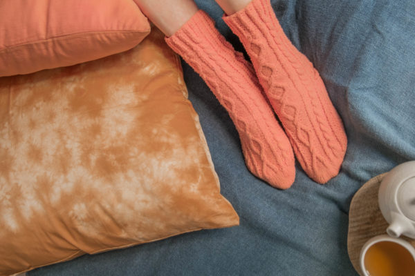 Chaussettes en laine mérinos tricotées main