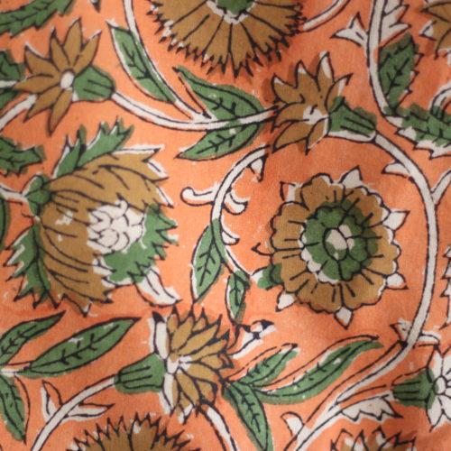 Top CHARLOTTE – imprimé fleuri abricot