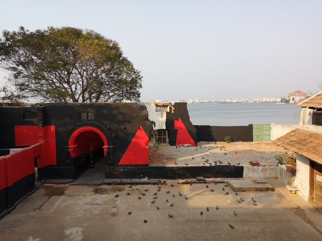 Lors de la Biennale de Kochi
