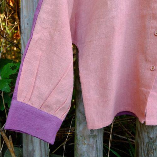 Chemise HINDI – rose et violet